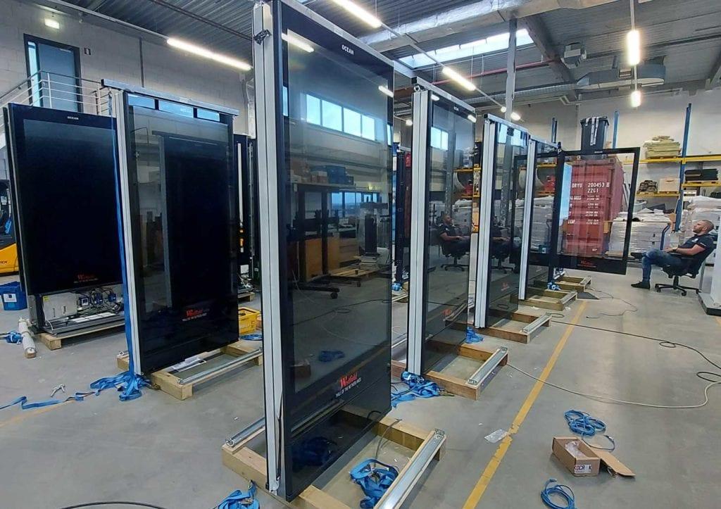 Voorbereiding installatie Mall of the Netherlands